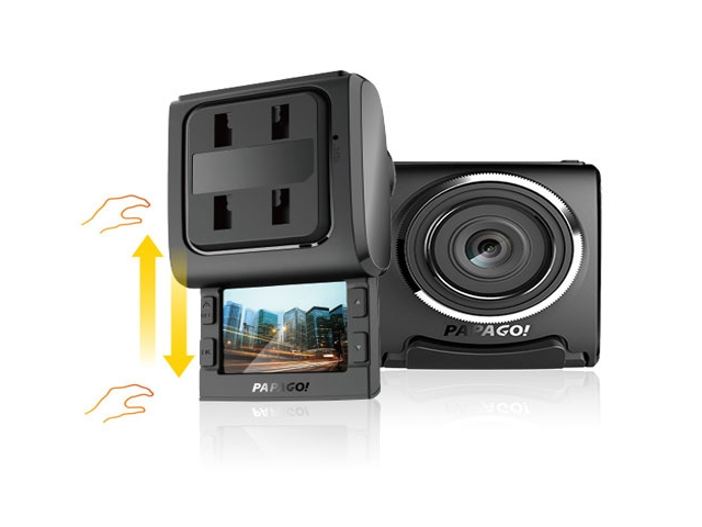 "PAPAGO GS200-US Full HD 1080P Clip Mount Dashcam with 2"" Sliding"